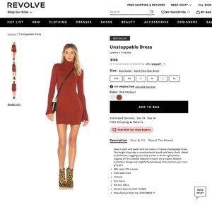 NEW Lovers + Friends Unstoppable Sweater Dress Red